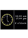 Image of Child's Clock Blackboard