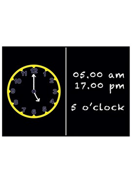 Image of Clock blackboard