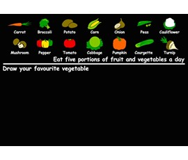 Image of Vegetable Blackboard (A1)