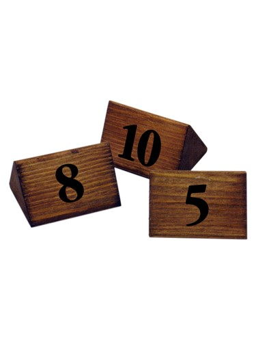 Image of Wooden Triangle Table Numbers