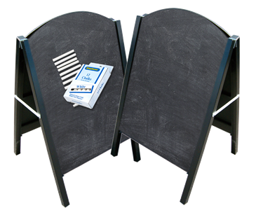 Image of Metal A-Frame Chalkboard Package
