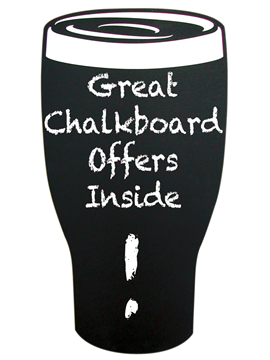 Image of Pint Shaped Blackboard