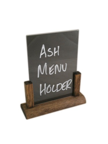Image of Ash Menu Holder with Chalkboard Insert