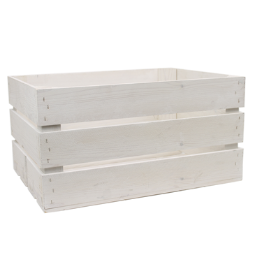 Image of White Washed Rustic Crate