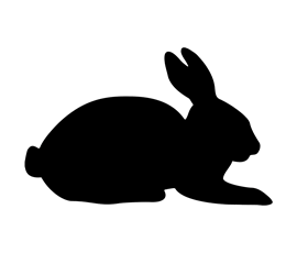 Image of Rabbit Shaped Chalkboard