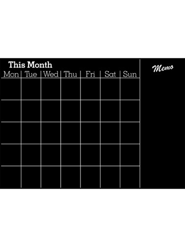 Image of Chalkboard Monthly Planner (A1)
