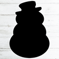 Image of Snowman Shaped Chalkboard