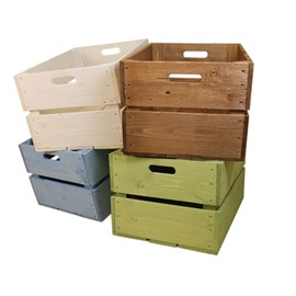 Image of Large Rustic Display Crates