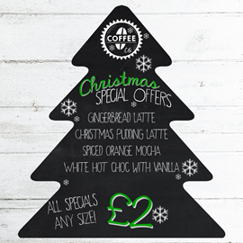 Image of Christmas Tree Chalkboard