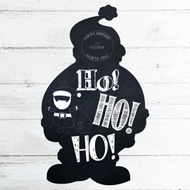 Image of Santa Shaped Chalkboard