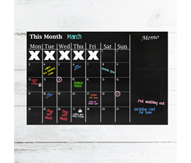 Image of Chalkboard Month Planner (A1)