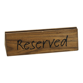 Image of Wooden Reserved Signs