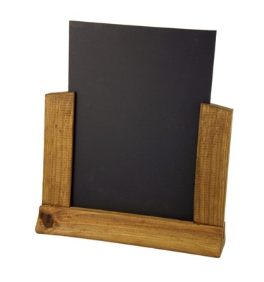 Image of Table Top Menu Holder with Chalkboard