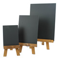 Image of Table Top Wooden Easels with Chalkboards