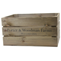Image of Rustic Crate with P&W Farms Print