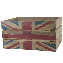 Image of Rustic Crate with Union Flag