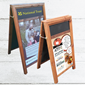 Image of A-Frame Poster Holder Chalkboard with Display Panel