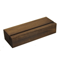 Image of Dark Oak Block Menu Holders