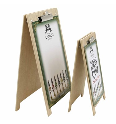 Menu Holder Clipboard A Frame | ChalkboardsUK