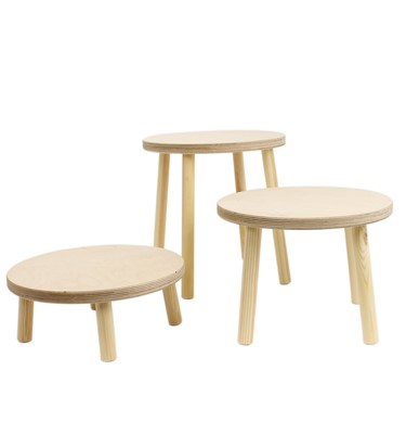 Image of Wooden Display Stools
