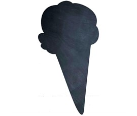 Image of Ice Cream Shaped Chalkboard