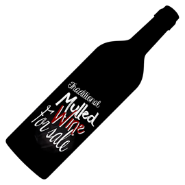 Image of Wine Bottle Shaped Chalkboard