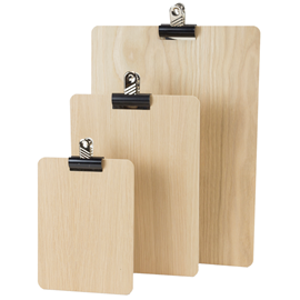 Image of Wooden Clip Board  (Natural)