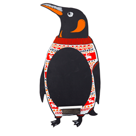 Image of Penguin Chalkboard with Chalk Tray
