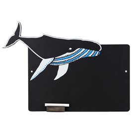 Image of Whale Chalkboard with Chalk Tray