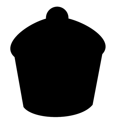 Image of Cupcake Shaped Chalkboard