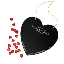 Image of Heart Shaped Chalkboard