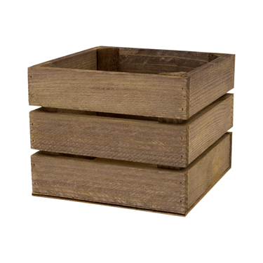 Image of Small Square Wooden Crate
