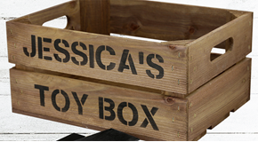 Small Rustic Planter Crates