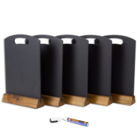 Image of A4 Table Top Chalkboards - Pack of 5