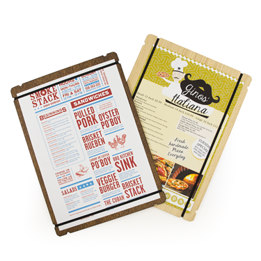Image of Elastic Wooden Menu Boards