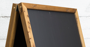 Square Top A-Frame Chalkboard
