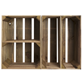 Image of Portrait Large Rustic Crate with Shelf