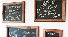 Chunky Dark Framed Chalkboards