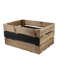 Image of Large Rustic Wooden Crate with Chalkboard Panel