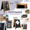 Image of Dark Oak Poster Holder Chalkboard