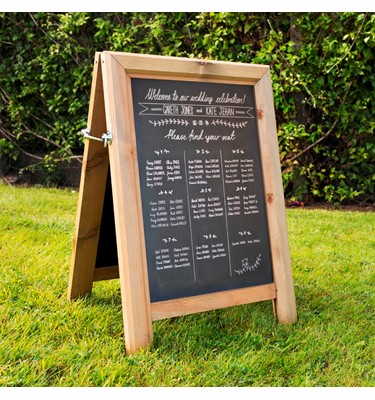 Image of Chunky A-Frame Chalkboards - Light Stained
