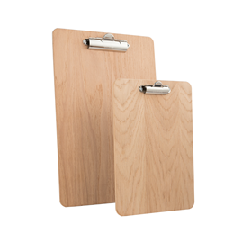 Image of Wooden Fixed Clip Clipboards (Natural)