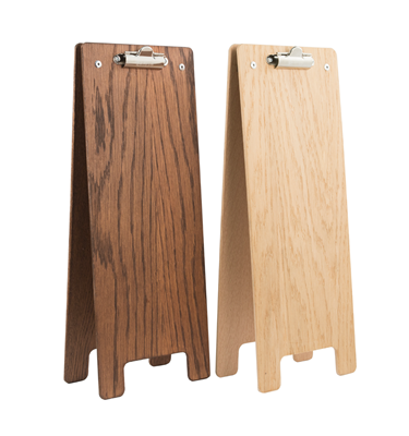 Image of Wine Menu Fixed Wooden A-Frame Clipboards