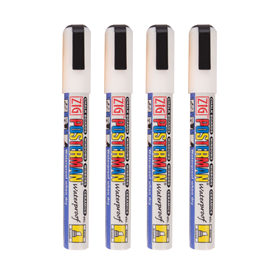 Image of Waterproof  White (Pack of 4) Liquid Chalk Pens