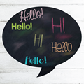 Image of Speech Bubble Chalkboard