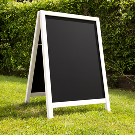 Image of White Washed A-Frame Chalkboard