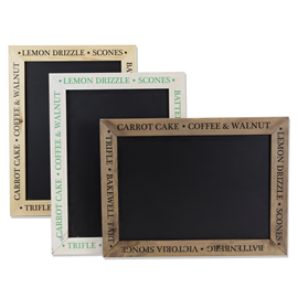 Image of Printed Kitchen Framed Chalkboards