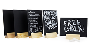 A5 Detachable Chalkboard Displays (Pack of 5)