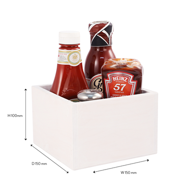 Image of Square Condiment/Cutlery Holder