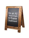 Image of Heavyweight Reversible A-Frame Chalkboards